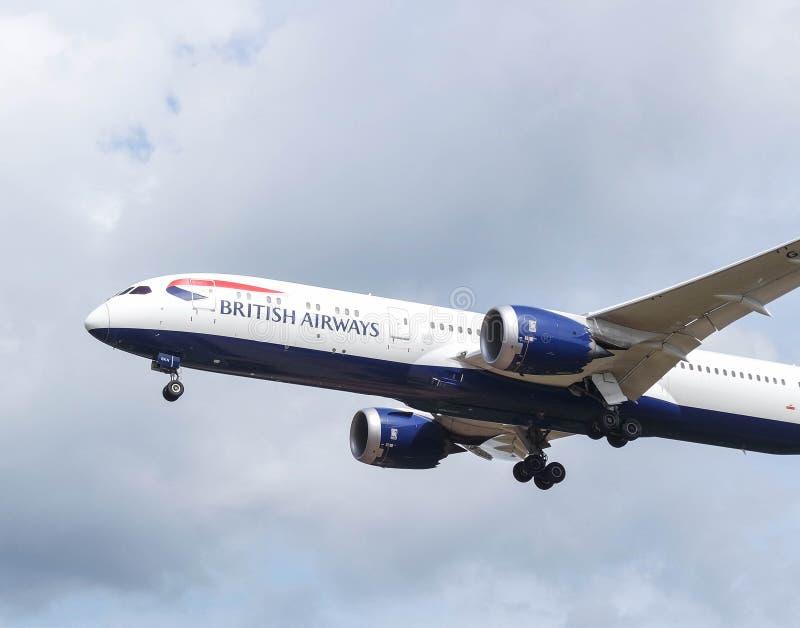 Landing aircraft royalty free stock photography