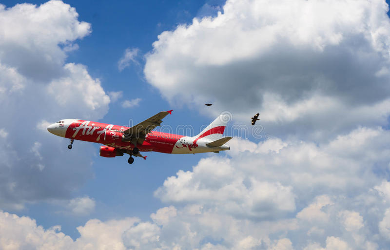 Landing aircraft royalty free stock images