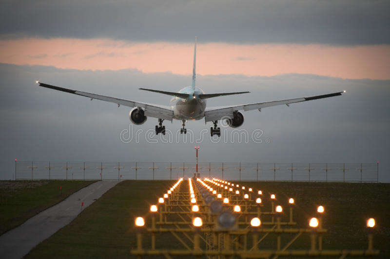 Download Landing airplane stock image. Image of airplane, approach - 24497963