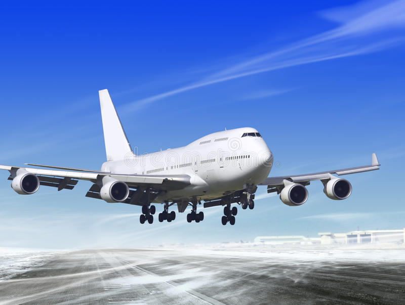 Download Landing away from airport stock photo. Image of lifting - 18258844