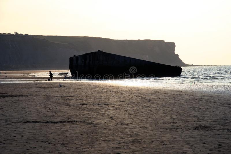 Download The Landing Beaches At Arromanches, France. Stock Photo - Image: 1277458