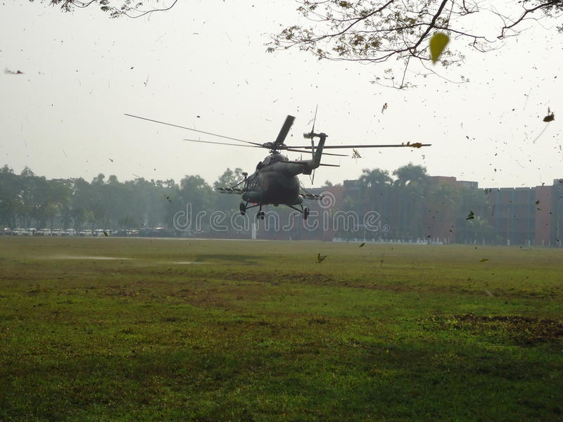 Landing Helicopter stock photography