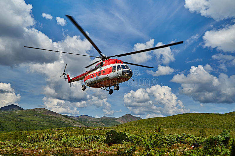 Download Landing Of The Helicopter To Island Vera - Jack London's Lake Stock Photo - Image: 63123556