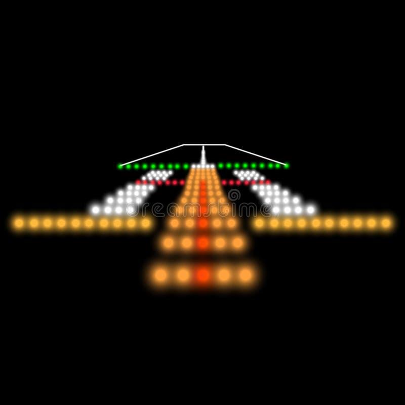 Landing lights. Vector illustration stock illustration