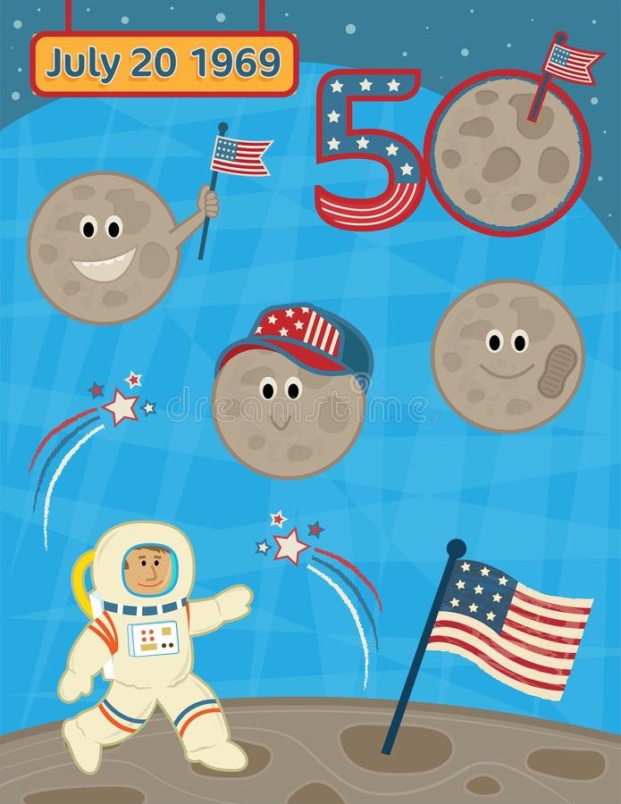 Landing On The Moon Anniversary royalty free stock image