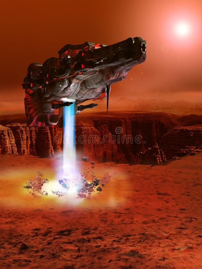 Free Landing On Red Planet Royalty Free Stock Photography - 137420737