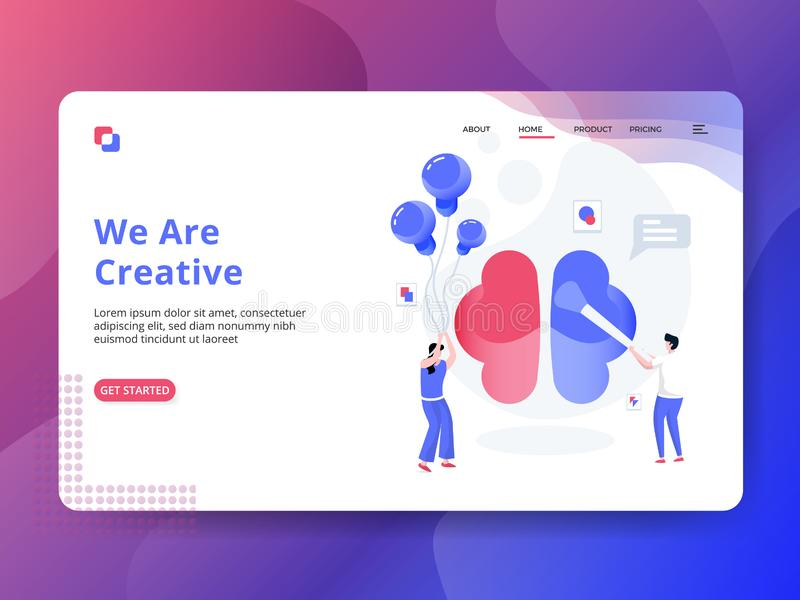 Landing Page We Are Creative vector illustration