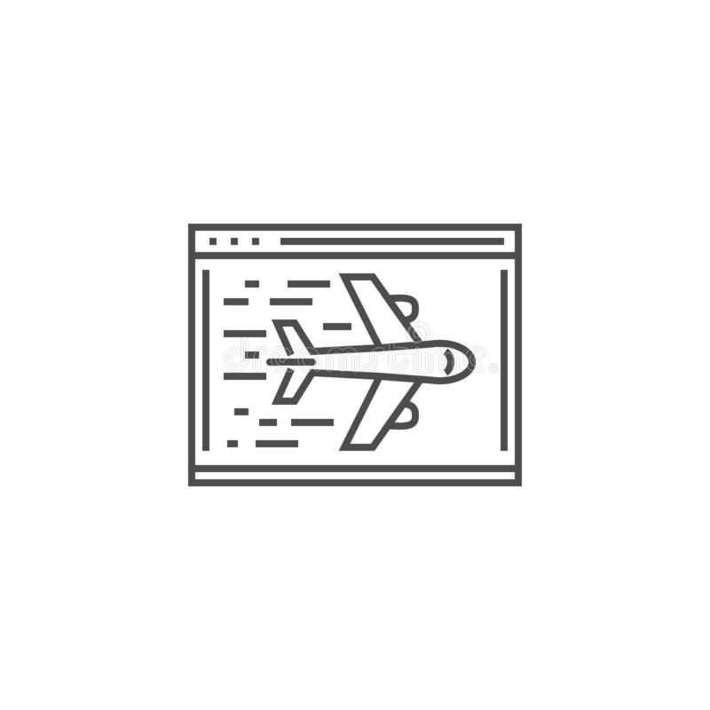 Landing Page Line Icon royalty free illustration