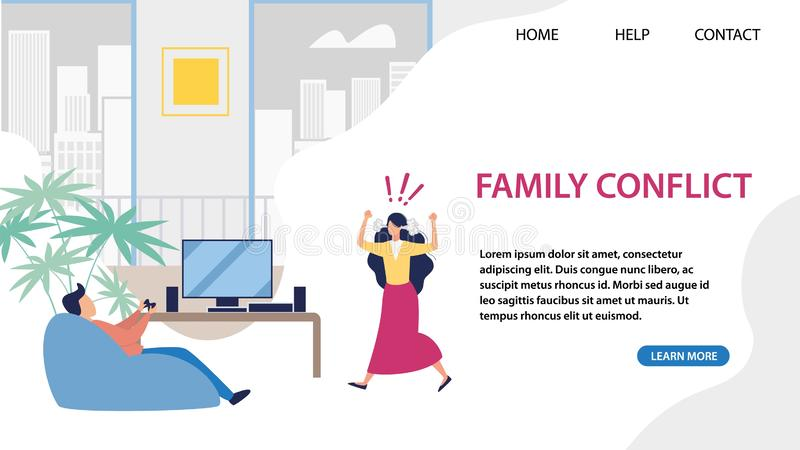 Landing Page for Service Solving Family Conflict stock abbildung