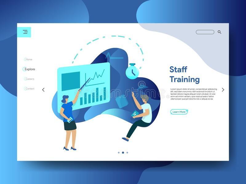 Landing Page Staff Training stock illustration