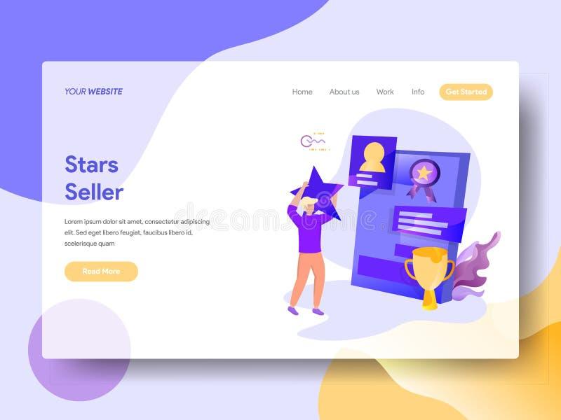 Landing Page Stars Seller stock illustration