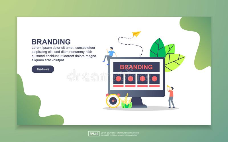 Landing page template of branding. Modern flat design concept of web page design for website and mobile website. Easy to edit and. Customize, illustration royalty free illustration