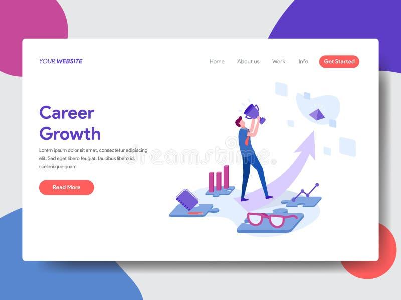 Landing page template of Career Development Concept. Modern flat design concept of web page design for website and mobile website. vector illustration