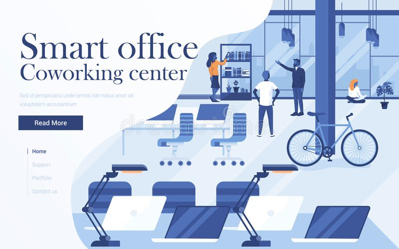 Flat Modern design Illustration of Coworking vector illustration