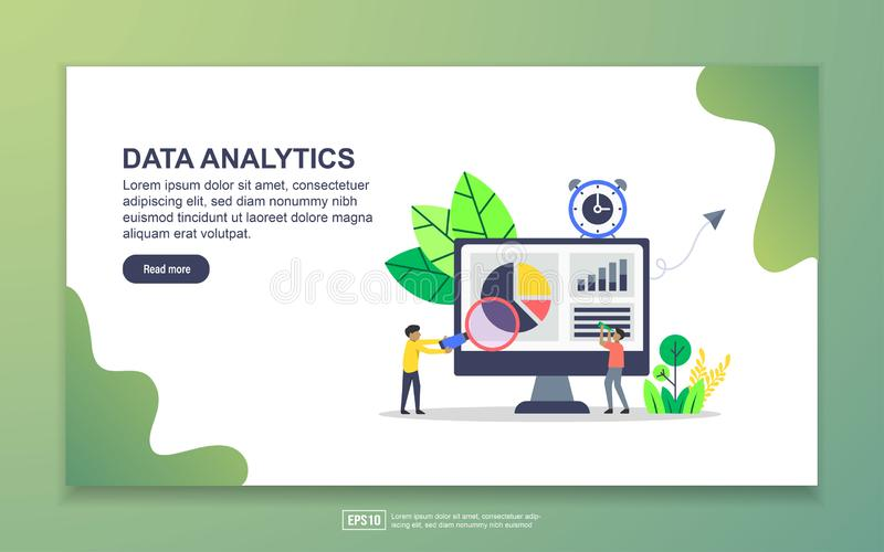 Landing page template of data analytics. Modern flat design concept of web page design for website and mobile website. Easy to. Edit and customize, illustration vector illustration