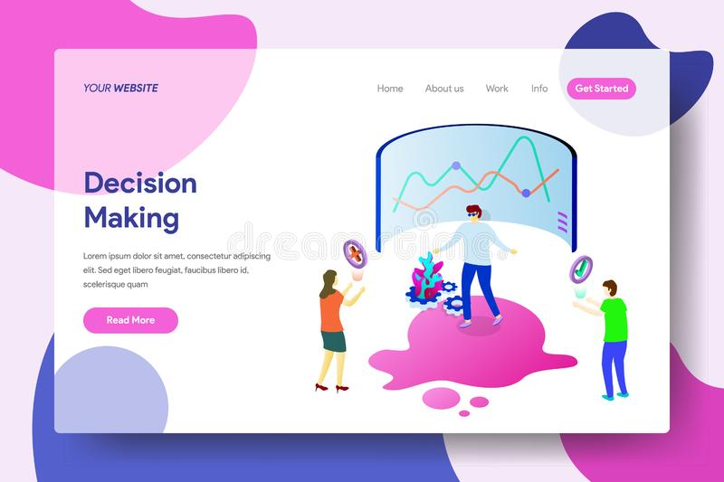 Landing page template of Decision Making vector illustration