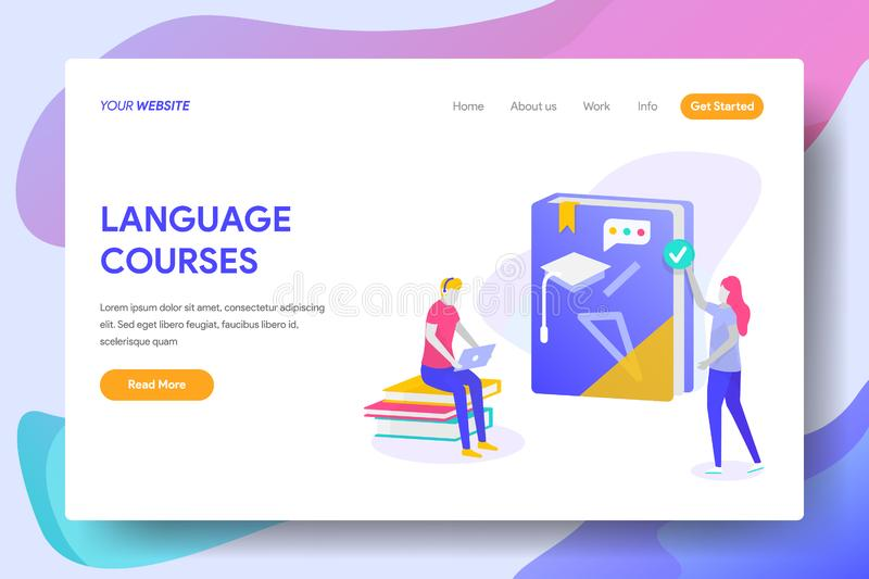 LANGUAGE COURSES royalty free illustration