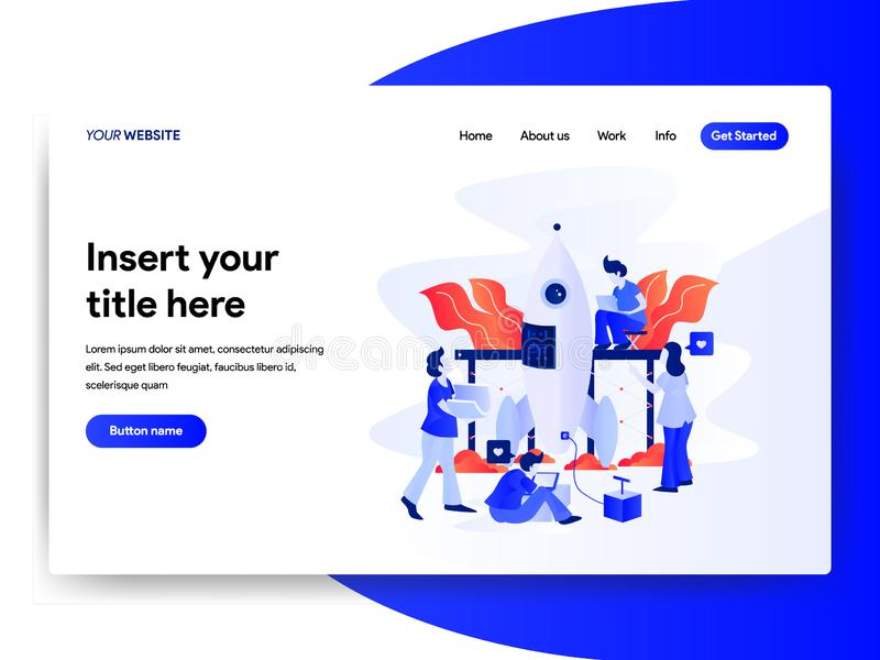 Landing page template of Startup Business Concept. Modern flat design concept of web page design for website and mobile website. Vector illustration vector illustration
