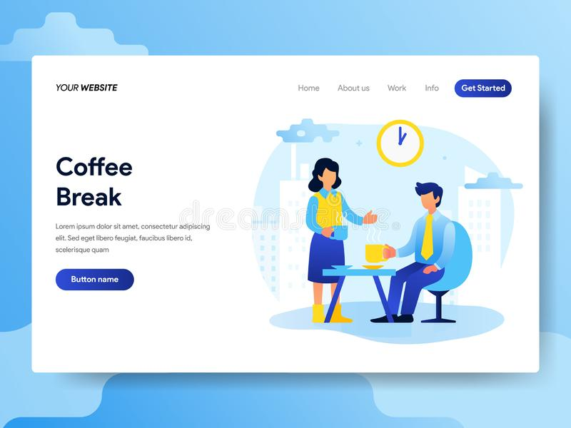 Landing page template of Teamwork and Brainstorming Concept. Modern flat design concept of web page design for website and mobile. Landing page template of vector illustration