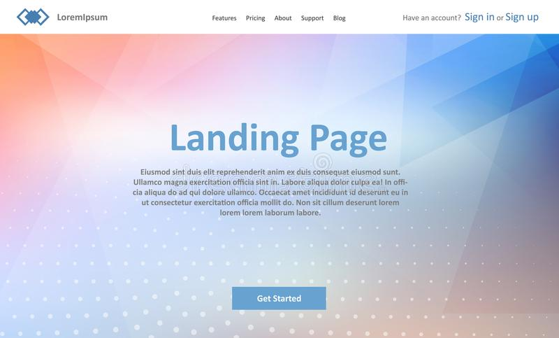 Landing page website template with abstract low poly design. Landing page website template with an abstract low poly design vector illustration