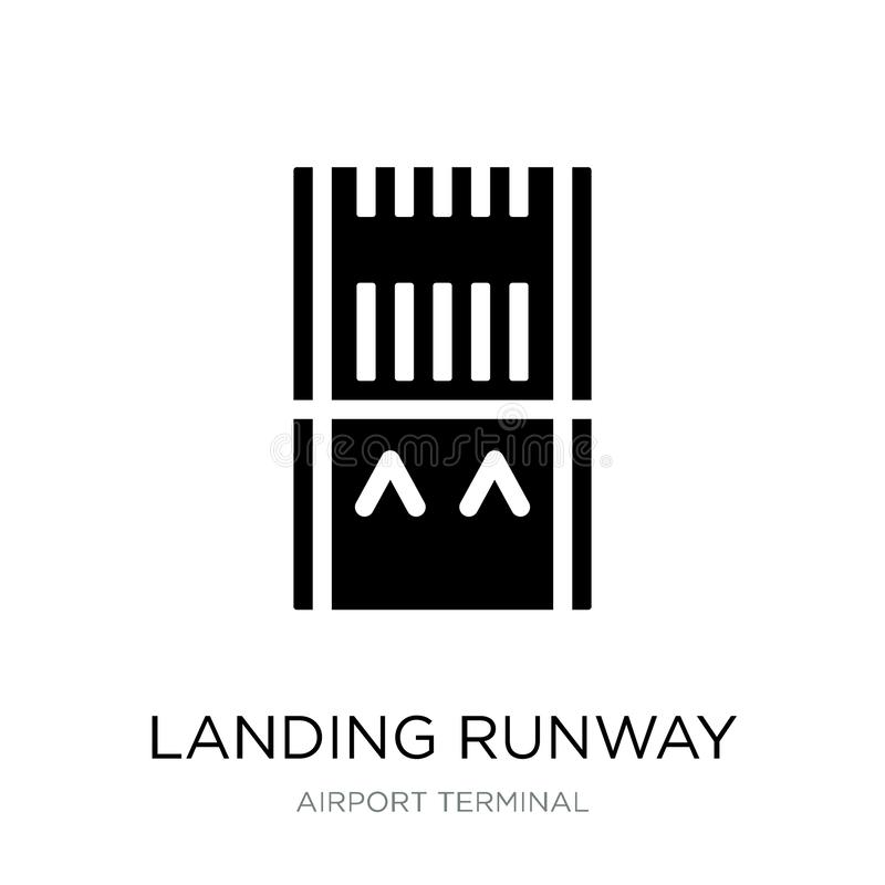 landing runway icon in trendy design style. landing runway icon isolated on white background. landing runway vector icon simple royalty free illustration