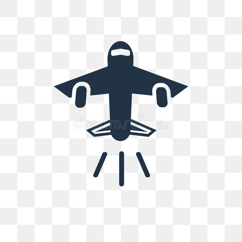Landing Runway vector icon isolated on transparent background, L royalty free illustration