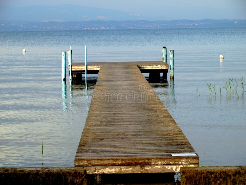 The landing stage royalty free stock photography
