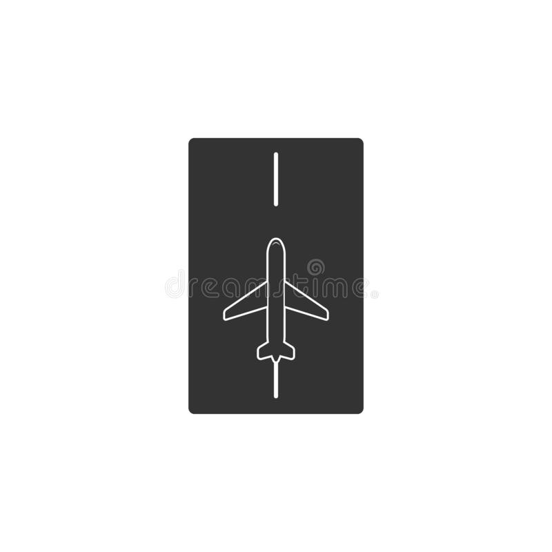Landing strip for aircraft icon. Element of airport icon for mobile concept and web apps. Detailed Landing strip for aircraft icon stock illustration