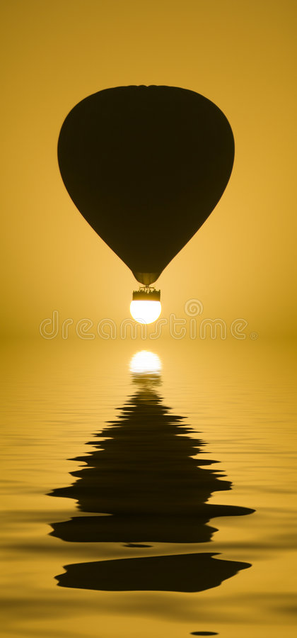 Download Landing on the Sun stock photo. Image of baloon, composition - 3359768