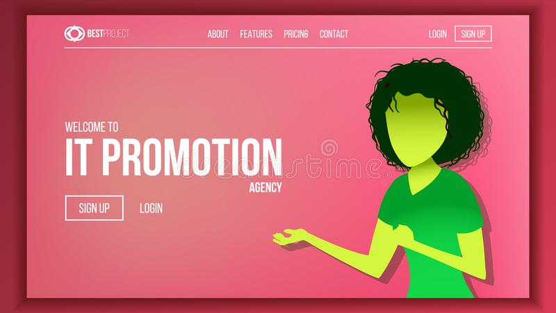 Landing Web Page Design Vector. Website Business Reality. Shopping Online Site Scheme Template. Cyber Monday. Planning. Landing Web Page Design Vector. Website royalty free illustration