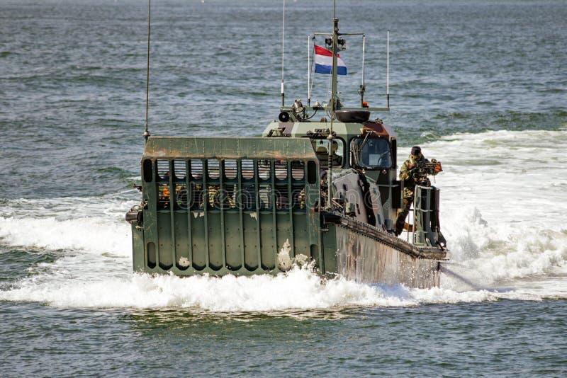 Landingcraft néerlandais de marines photographie stock