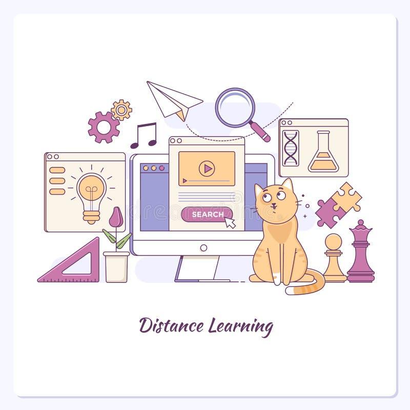 Landingspaginamalplaatje van van van Bedrijfs learing Online van het het Onderwijsmalplaatje Conceptenelearning het Webbanner vector illustratie