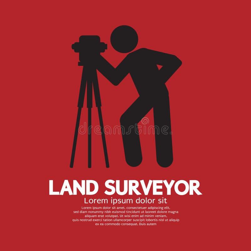 Landlandmeter Black Graphic Symbol stock illustratie