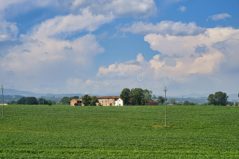 Landlandschaft nahe Castell-` Arquato stockfotos