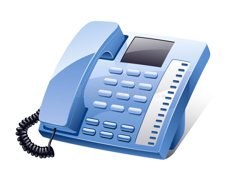 Landline phone stock illustration