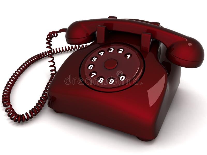 landlinetelefon royaltyfri illustrationer