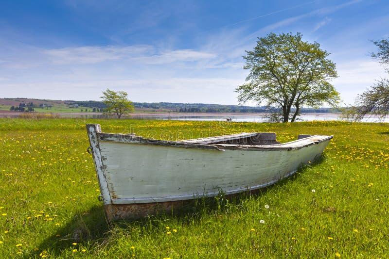 Landlocked Rowboat stock photography