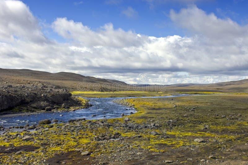 landmannalaugar äng arkivfoto