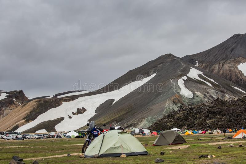 Landmannalaugar islândia imagens de stock royalty free