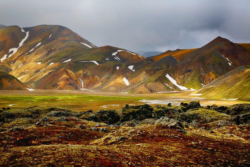 Landmannalaugar in Island stockfotografie