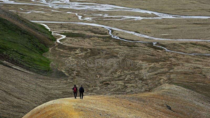 Landmannalaugar mountains hiking, Iceland, Highlands royalty free stock images
