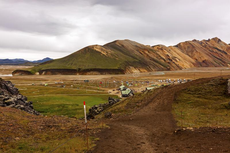 Landmannalaugar nature reserve in the heart of Iceland royalty free stock photo