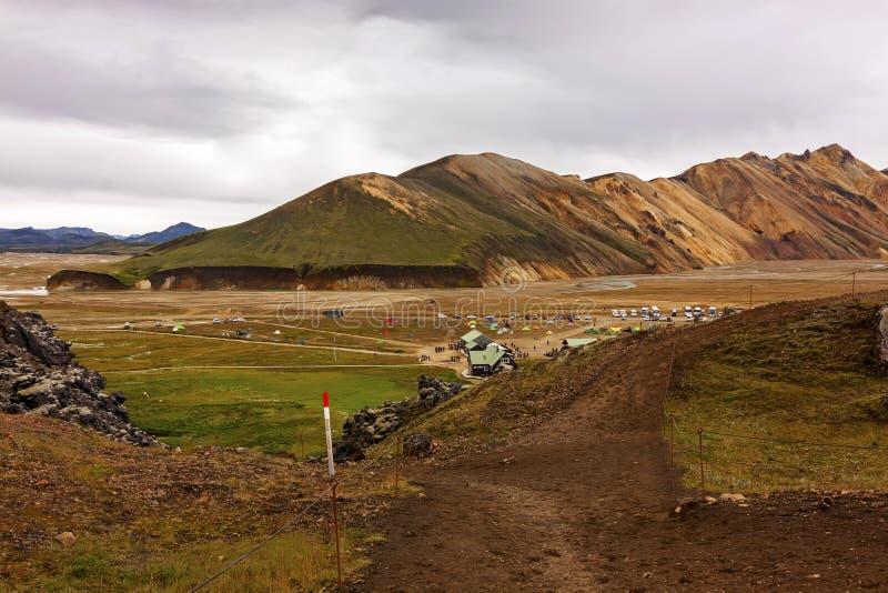 Landmannalaugar naturreserv i hjärtan av Island royaltyfri foto