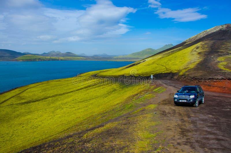 Landmannalaugar - paisagem surpreendente em Isl?ndia fotografia de stock royalty free