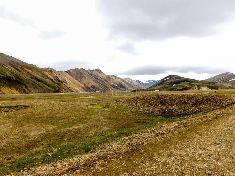 Landmannalaugar sur l'île image stock