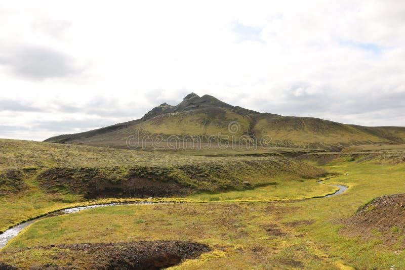 Landmannalaugar-Wanderung stockfotos