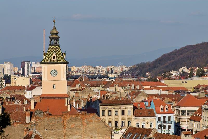 Landmark attraction in Brasov, Romania. Old town. Casa Sfatului royalty free stock photo