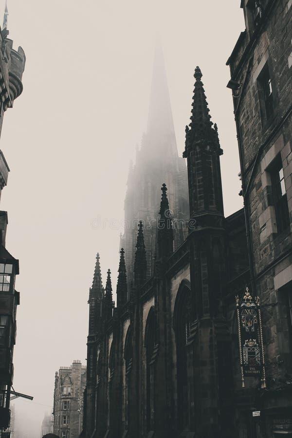 Landmark, Building, Black And White, Spire stock photography