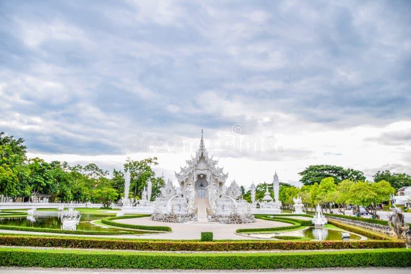 Landmark of Chaing Rai - Wat Rong Khun is een beroemde tempel en is een andere toeristische bestemming van Chiang Rai, Thailand,  stock afbeeldingen