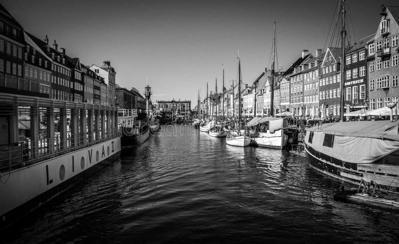 Landmark. The Copenhagen`s most famous landmark Nyhavn stock images